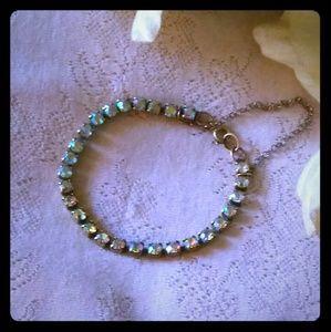 Vintage Aurora Borealis Tennis Bracelet
